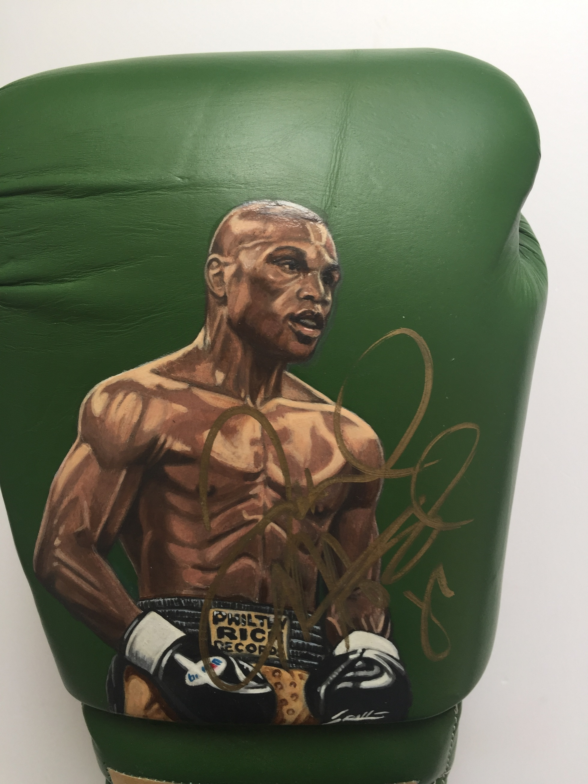 Floyd Mayweather Jr Hand Painted Signed Boxing Glove ...