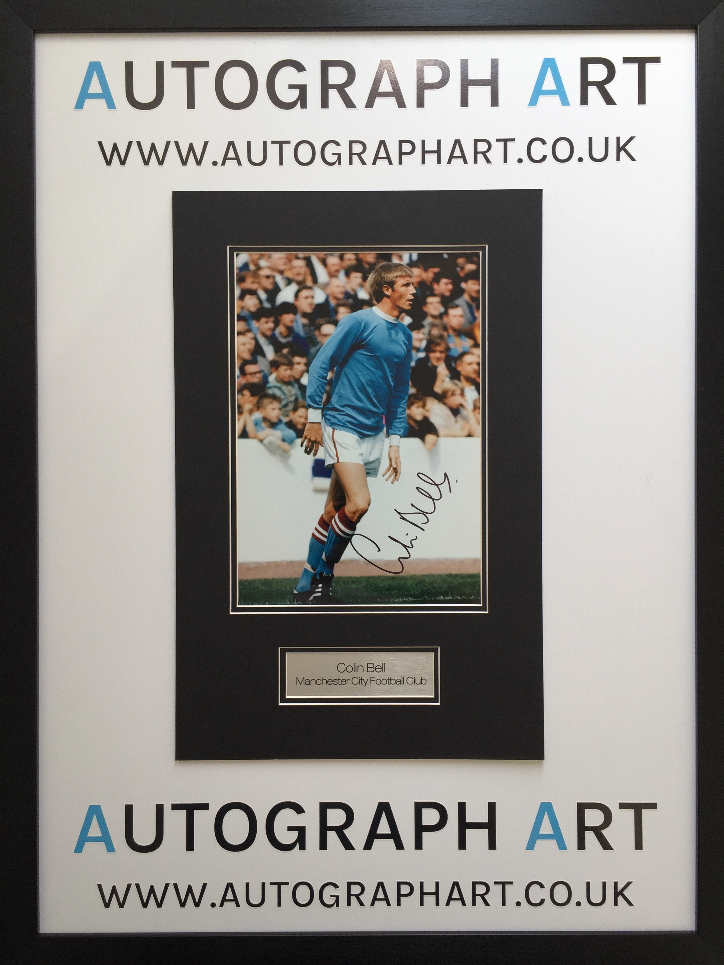 Colin Bell Man City Signed Mounted Photo 16 x 12 - Autographed ...
