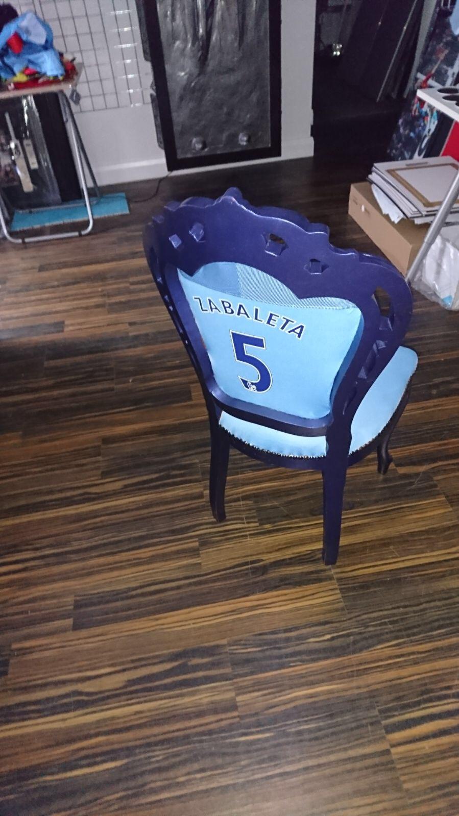 Pablo Zabaleta Manchester City Chair Autographed Memorabilia