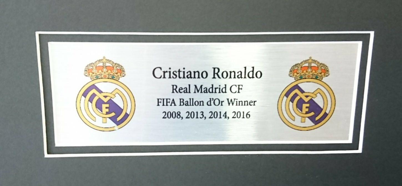 12fbd0cb6 Cristiano Ronaldo Signed Framed Real Madrid Shirt - Autographed ...