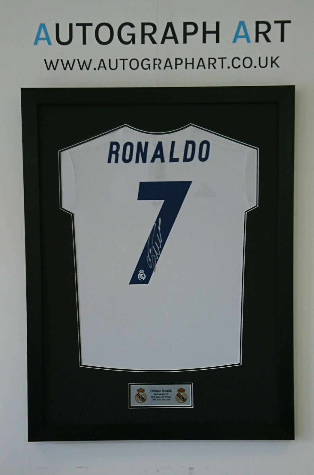 af6991931 Lionel Messi and Cristiano Ronaldo Double Framed Signed Shirts ...