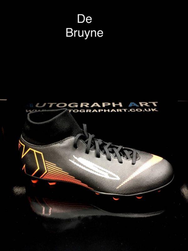 finest selection dddce 1e727 Kevin De Bruyne Signed Nike Mercurial Sock Boot – Black