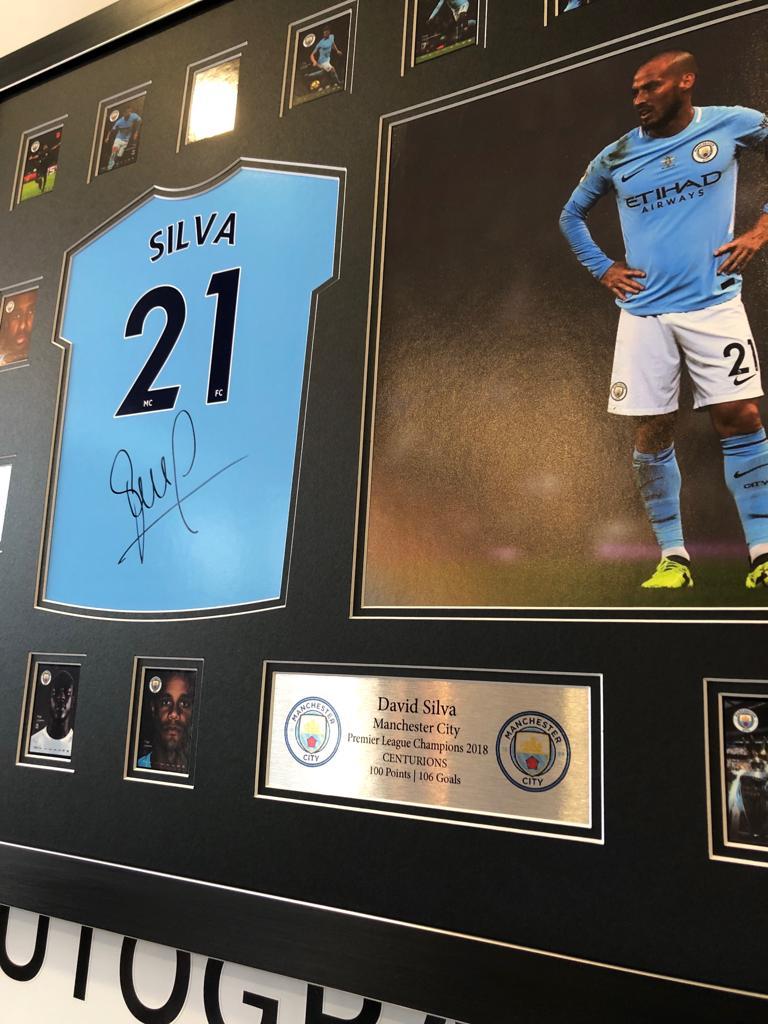 timeless design 7d9c6 95499 David Silva Autographed Manchester City Kit Signed Photo ...